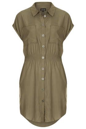 Casual Utility Shirtdress - Dresses  - Clothing - top shop