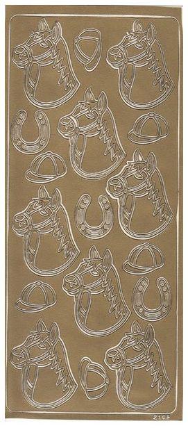 Flotte heste stickers med motiver af heste og hesteudstyr på et stort og flot ark fra sjovogkreativ.dk