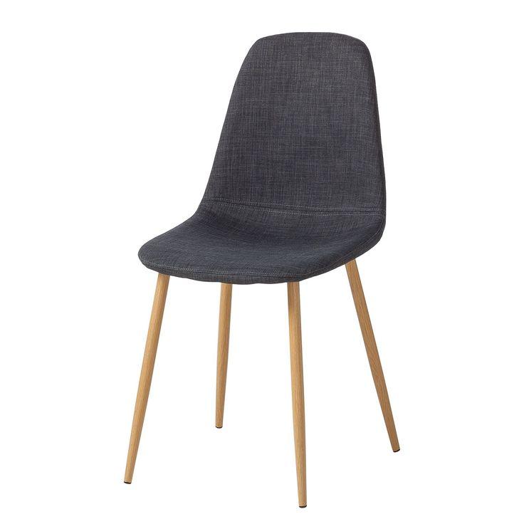 Gestoffeerde stoelen Iskmo II (2-delige set) - geweven stof - Antraciet