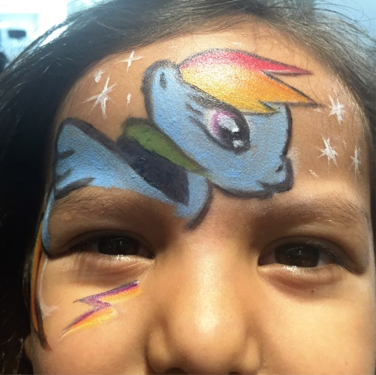 Face painting o pintacaritas rainbow dash