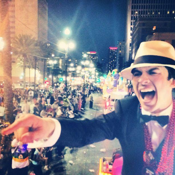 Ian Somerhalder's Mardi Gras Grand Marshal Experience