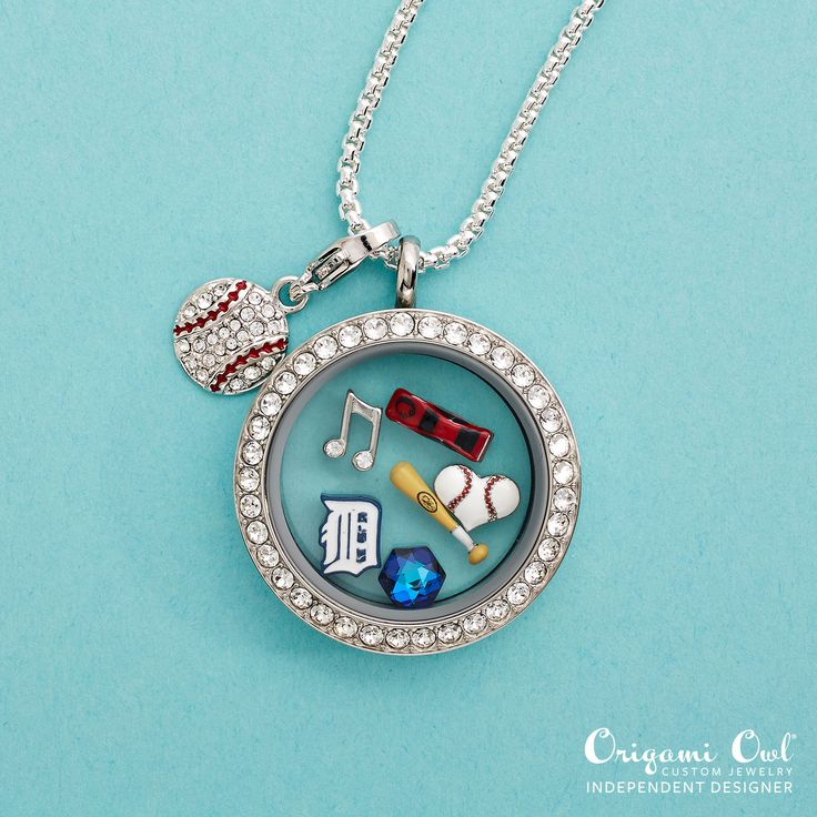 #Detroit #Tigers officially licensed #MLB charms from #OrigamiOwl. #Baseball #Gift  Shop - Host - Join
