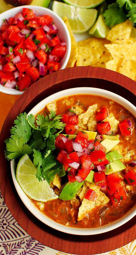 Chicken Tortilla Soup - Mouthwatering Slow-Cooker Recipes