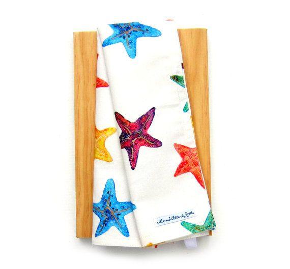 Starfish tea towel unique print by Emma Allard Smith