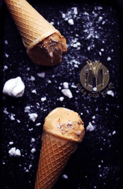 Ice cream with salted caramel / Lody z solonym kajmakiem