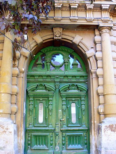 Beautiful Romanian doors.