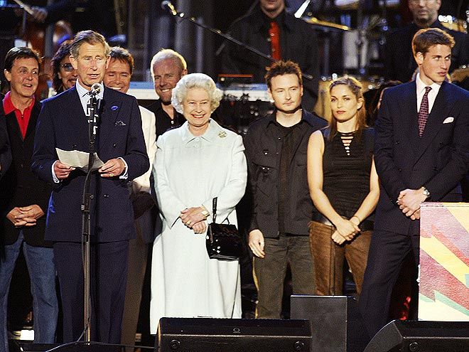 In 2002, the queen celebrated 50 years on the throne with a series of lavish Golden Jubilee festivities, including parades, a national tour and an epic pop concert featuring performances from stars, including Paul McCartney, Tony Bennett and Eric Clapton, in her Buckingham Palace backyard.