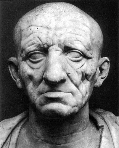 Before the Empire, the Romans produced the best portrait sculpture that the world has ever seen.  Look at this face and you feel like you know this man in all his broken humanity.