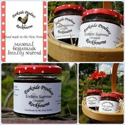 'Endless Summer' fruit conserve with trawberries, raspberries, blackberries, redcurrants, blackcurrants and blueberries by Parkside Produce  #1ofakindmarkets #handmade #homemade #summerberries #jam #conserve #gardenproduce