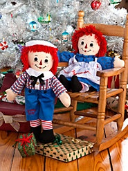 Raggedy Ann and Raggedy Andy, with the Button Eyes and Embroidered Hearts You Remember  $30