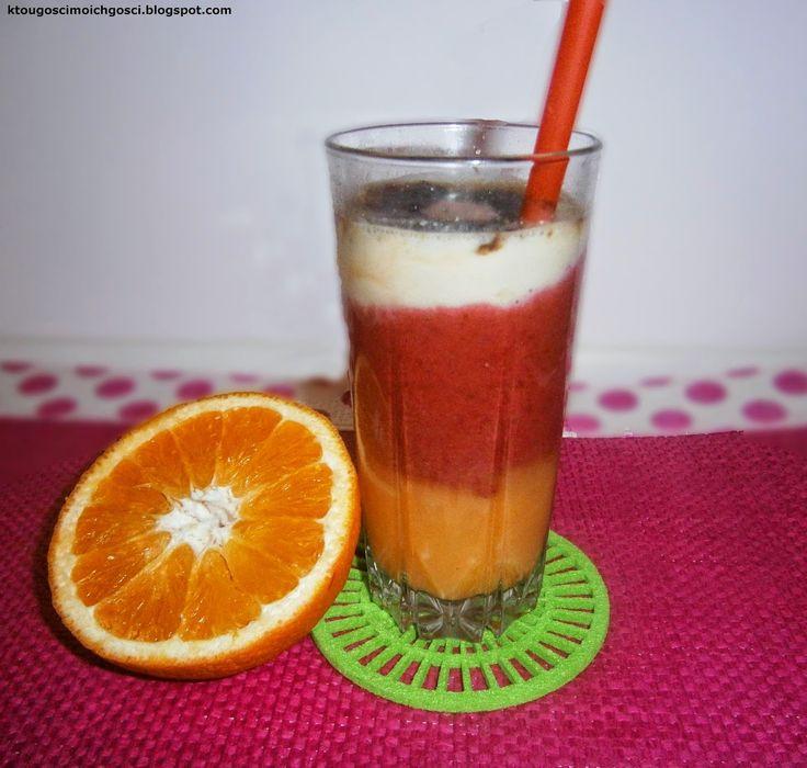 Kto ugości moich gości?: Koktajl pomarańczowo-truskawkowo-bananowy