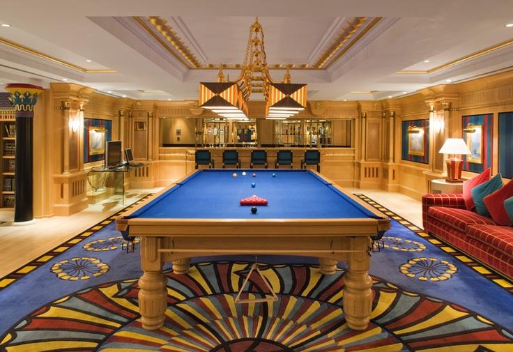 Burj al arab jumeirah diwania library and biljard for The most expensive hotel room in dubai