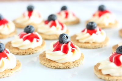 July 4th Cheesecake Bites - a 15 minute, no bake, amazingly delicious recipe!