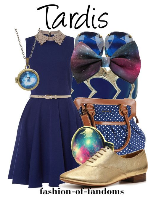 Fandom Fashion. Since when to people dress as the tardis? Wait, I would.