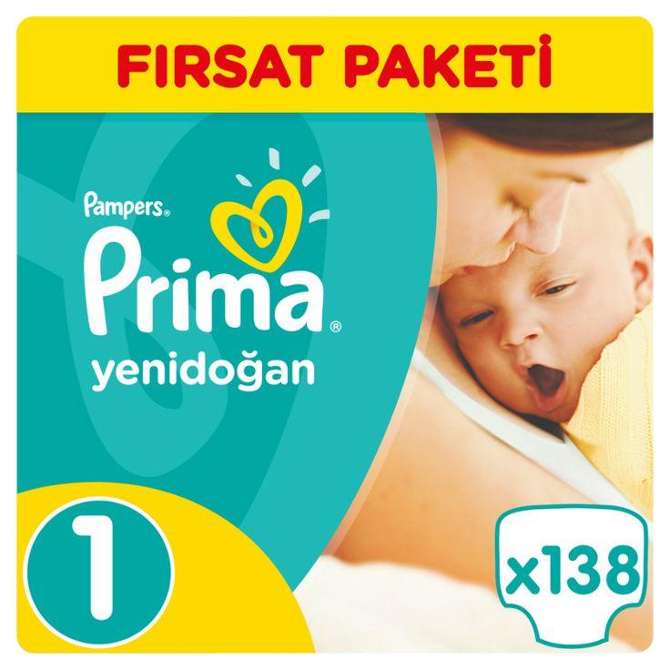 Prima Bebek Bezi 1 Beden Yenidoğan Fırsat Paketi 138 Adet