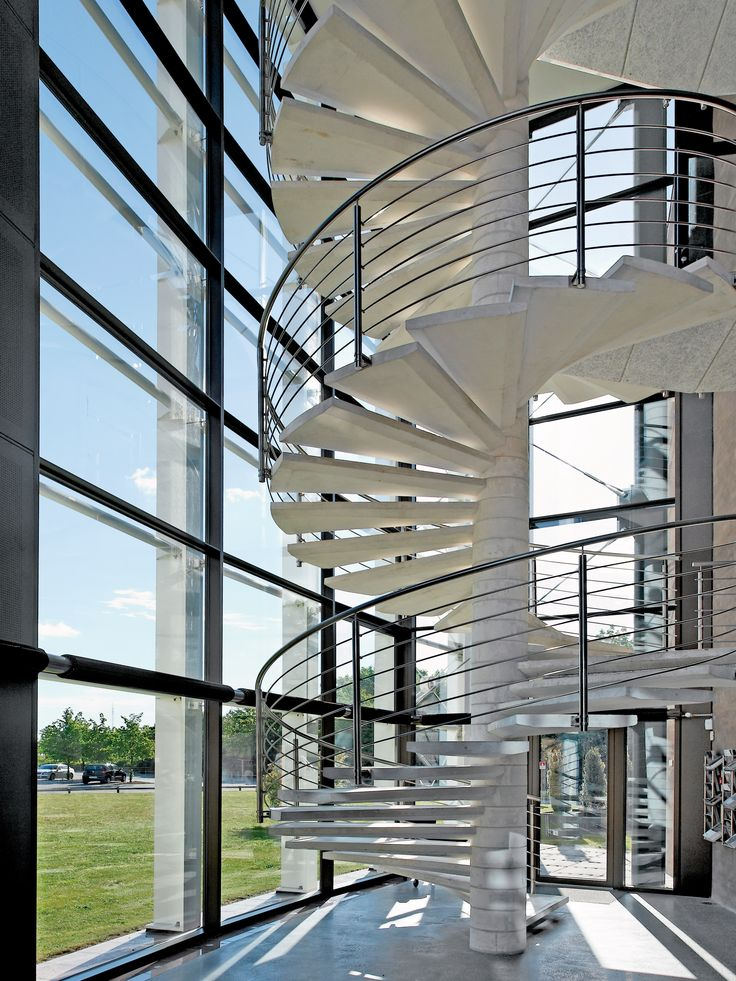 If you look close enough at this fascinating picture, you can spot our Finned Tubes at the large window panels. The Tubes are beautifully integrated into the architecture through the choice of colours and installation #heating #radiators #heatingsolutions #finnedtubes #architecture #stairway