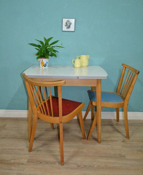 Vintage Tische - ✿Vintage✿ Tisch fifties Küchentisch ausziehbar  - ein Designerstück von LOOKandVINTAGE bei DaWanda