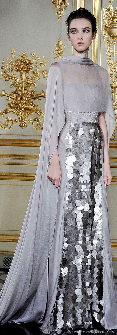 Love the cape and the cut on this...opaque cape and lose the sequins for a wedding dress?