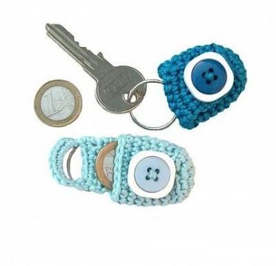 Llavero crochet. Solo inspiración :-) facil  ❥Teresa Restegui http://www.pinterest.com/teretegui/❥