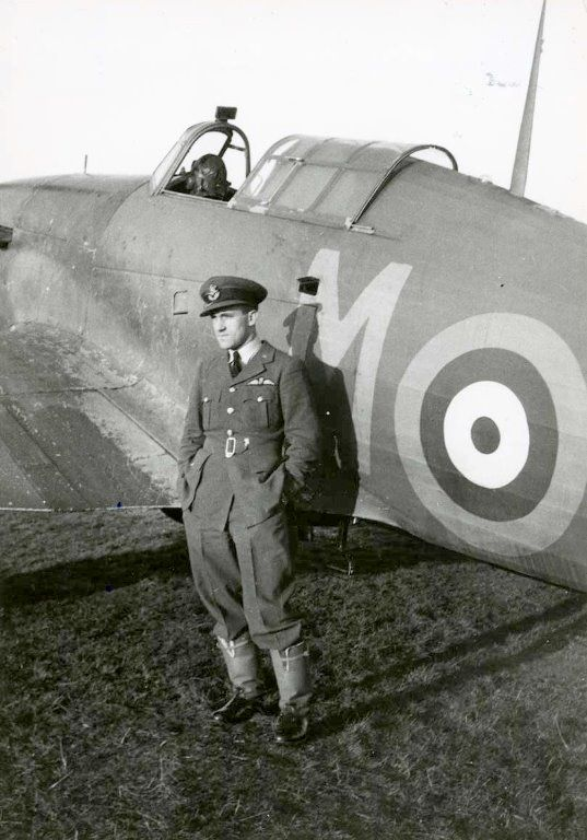 "P/O Karel ""Charlie"" Mrázek flew with No 46 Squadron RAF on 11 November 1940 when he fell behind in Hurricane Mk I PO-M due to partial engine failure. Sighting a number of bogeys identified as BR20 bombers, the 29-year-old Czech destroyed 2 of the CR42 fighter escort. The first biplane fell into the sea 4m and the second 3m from Ofordness. After the combat he recrossed the coast to land at RAF Rochester, with empty tanks and 10 machine gun holes in his wings and fuselage."