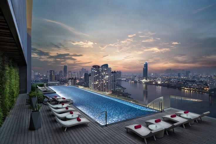 Nice view of Bangkok city from the AVANI Riverside Hotel.