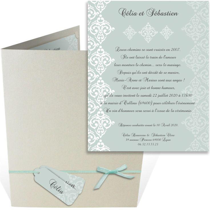 top wedding invitations016%0A Faire part mariage pochette   l  gant et raffin   qui s  duira vos proches par  son graphisme   pur