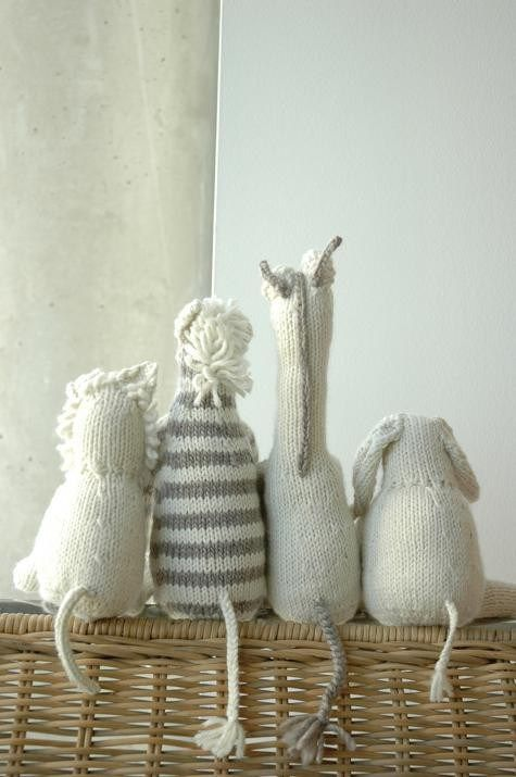 knit elephant, giraffe, zebra safari animals for baby - so cute and cuddly!