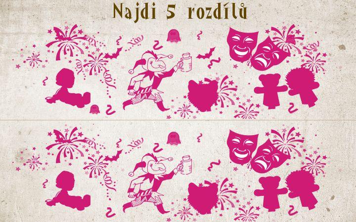 Najdi 5 rozdílů - Masopust  #rozdily #agentimysterii #hadanka #rebus #deti #zabava