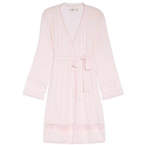Women's Ugg Cosima Embellished Robe (285 PEN) ❤ liked on Polyvore featuring intimates, robes, bath robes, lace dressing gown, dressing gown, ugg bathrobe and ugg