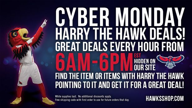 Cyber Monday - Harry the Hawk Deals Ever Hour
