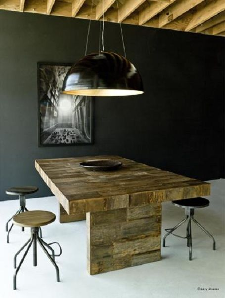 Slow Furniture article from EcoSalon. Environment Furniture's reclaimed peroba dining table.
