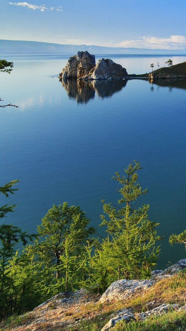 Lake Baikal, Siberia, Russia, the world's deepest fresh water lake.