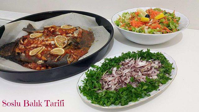 fırında soslu balık tarifi,fırında balık tarifi,fırında balık,fırında balık nasıl pişirilir,fırında alabalık tarifi,fırın balık