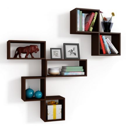 Fab Home Liana Wall Shelves (Set of Four) - Walls that Talk!A set of four geometrically orchestrated wall shelves to adorn your walls. Arrange them in conjunction or use them individually as per your choice. Ideal to house books or showcase your prized possessions like medals, souvenirs, curios and more.Expert MakeAesthetically designed from premium MDF material with matte finish, the wall unit is as robust in make as it is visually appealing.