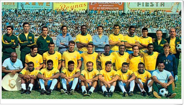 Selección de Brasil. Campeona del Campeonato Mundial de fútbol México 1970.
