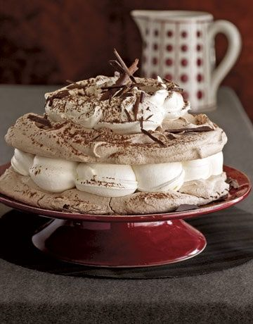 Hot Chocolate Meringue Cake - This delicious cake is heaven on the tongue and a snap to make.