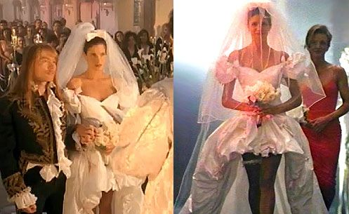 """The Gown Worn by: Stephanie Seymour In: the video for Guns'n'Roses' """"November Rain"""" 1992"""
