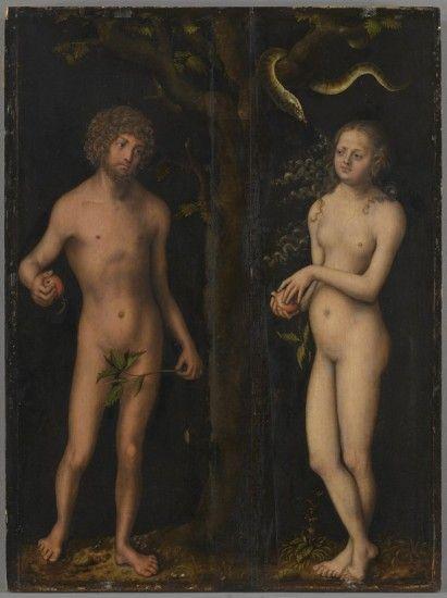 Adán y Eva autor Lucas Granach