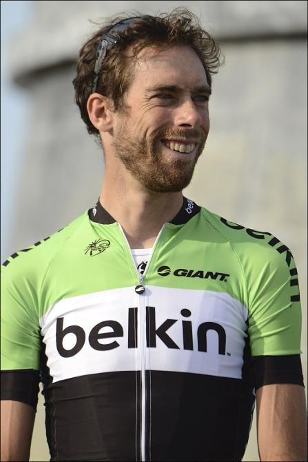 Laurens ten Dam sporting Belkin's new kit