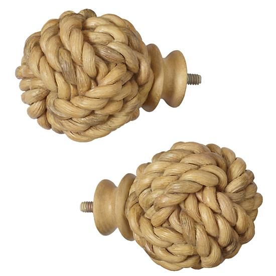 Add a nautical touch to your window treatment with these large finials.