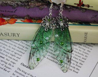 Vleugel oorbellen van Fairy fantasy dragonfly cicade