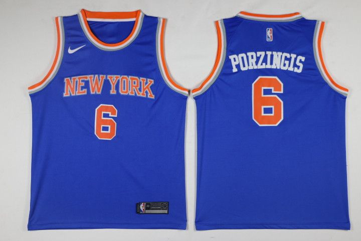 NBA New York Knicks Kristaps Porzingis #6 Jerseys  #basketball #jersey #nba #basketball #jersey