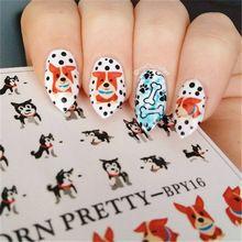 2 Patterns/Sheet BORN PRETTY Cute Dog Nail Art Water Decals Transfer Sticker BPY16(China (Mainland))