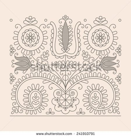 stock-vector-traditional-floral-hungarian-pattern-from-kalotaszeg-region-of-transylvania-241910791.jpg (450×470)