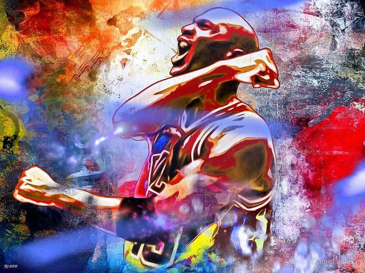 Michael Jordan Painted by Daniel Janda