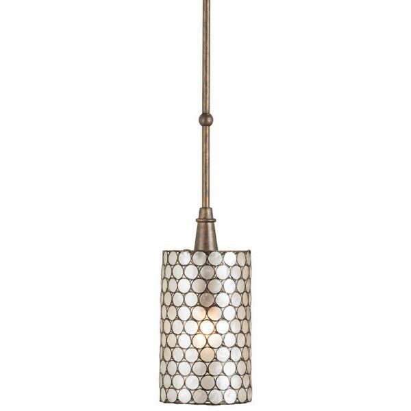 Overview Details Why We Love It Using a natural element like this Capiz Shell in combo with wrought iron creates a pendant that's both luminous and contemporary