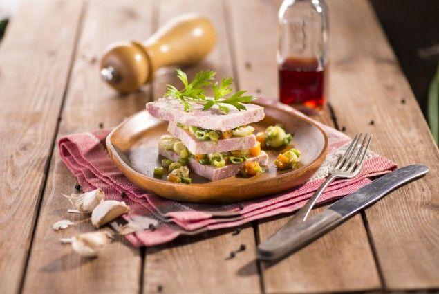 Šunková tlačenka s marinovaným pórkem #jaknavelkeveci#food#recipe#foodporn#yum#yummy#cooking#inspiration#meat#meal