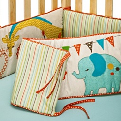 @Overstock - Complete the look of your nursery with this adorable Migi Circus crib bumper from BananFish. The bumper features a modern pattern in bright sunny colors to brighten your nursery.http://www.overstock.com/Baby/BananaFish-MiGi-Circus-Crib-Bumper/6820660/product.html?CID=214117 $73.99