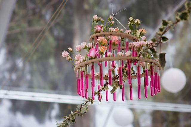 Flower Lamp -  Lampara floral By My Group Eventos