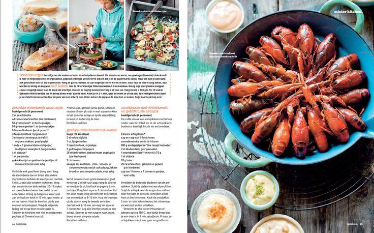 Lekkere recepten met Amerikaanse rivierkreeften uit de Hollandse sloot . http://www.misterkitchen.nl/img/bladen/Del.Rivierkreeft.pdf